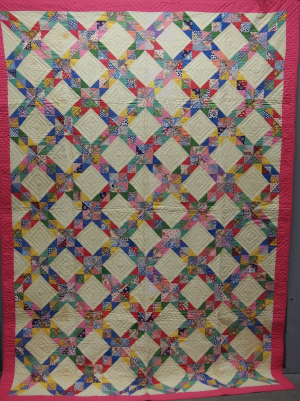 CORN AND BEANS ANTIQUE QUILT