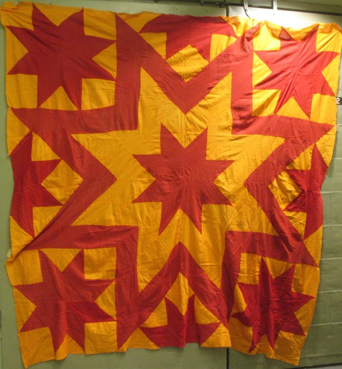 AUNT ELIZA'S STAR PIECED ANTIQUE QUILT TOP