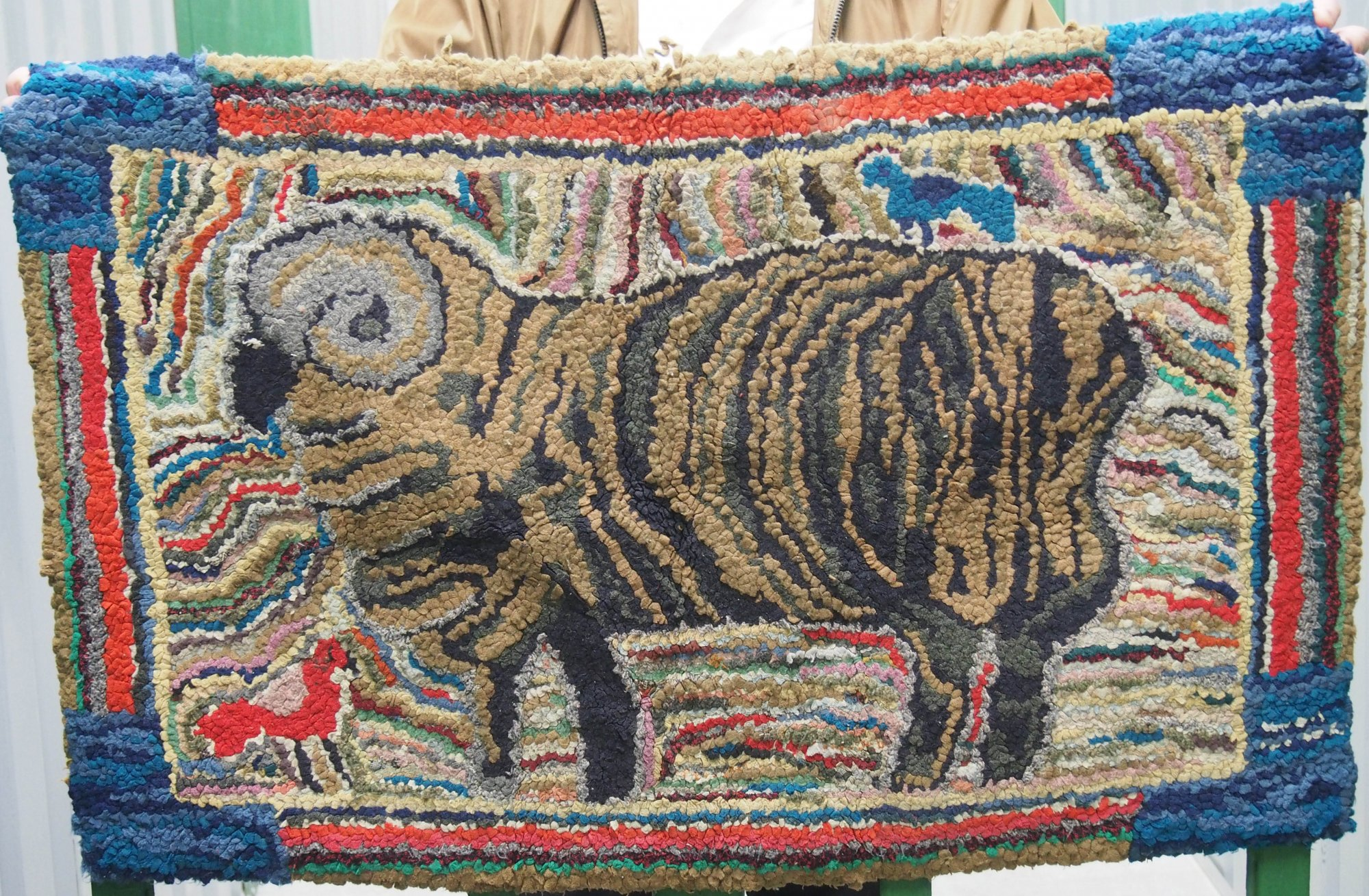 RAM ANTIQUE HOOKED RUG