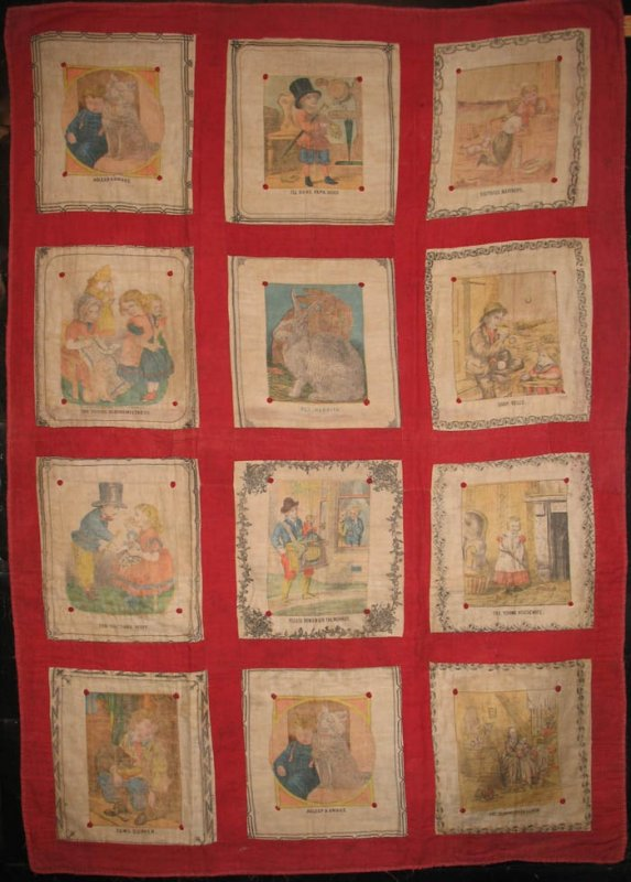 CHILDREN'S KERCHIEFS ANTIQUE CRIB or TRUNDLE QUILT