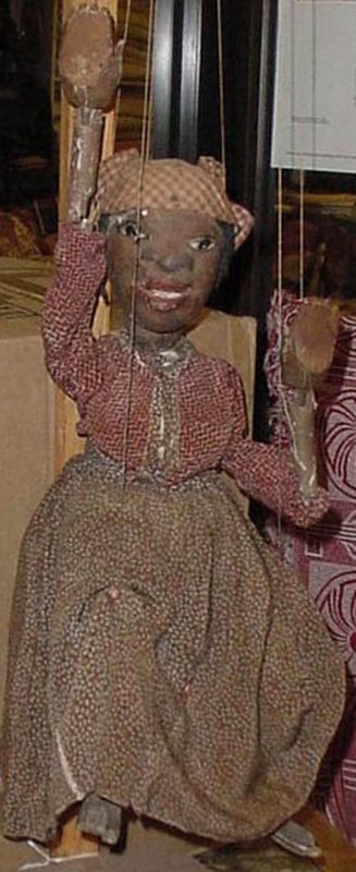 AFRICAN AMERICAN FEMALE ANTIQUE MARIONETTE
