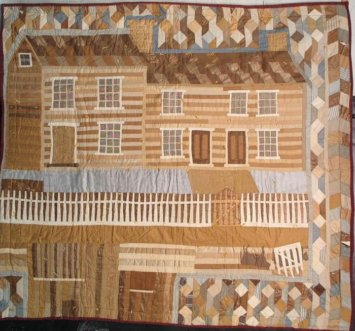 FARMHOUSE MONUMENTAL ANTIQUE QUILT, Sally Goforth, NJ