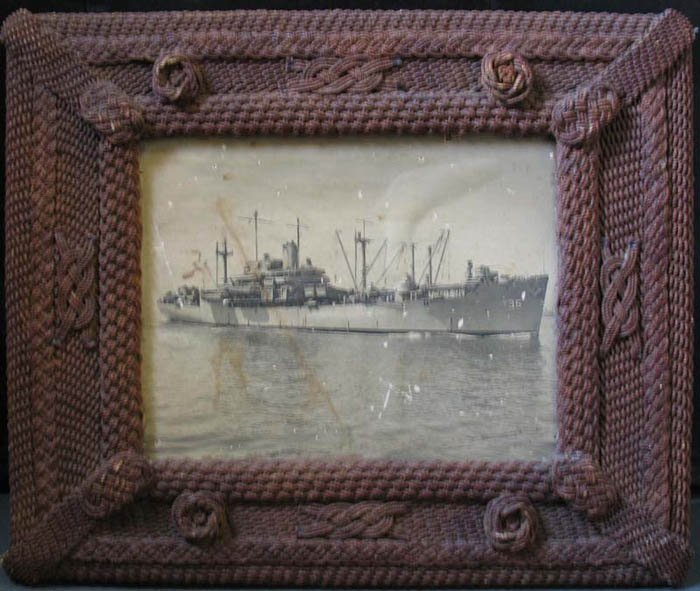SAILOR'S MACRAME ANTIQUE ROPE PICTURE FRAME