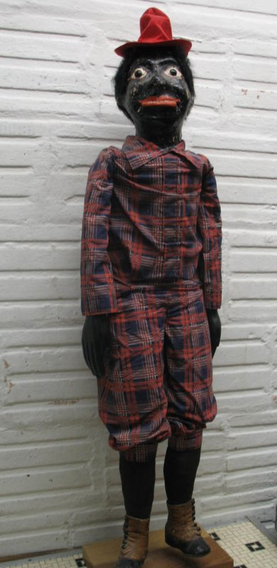 VENTRILOQUIST'S FIGURE AFRICAN AMERICAN MAN ANTIQUE