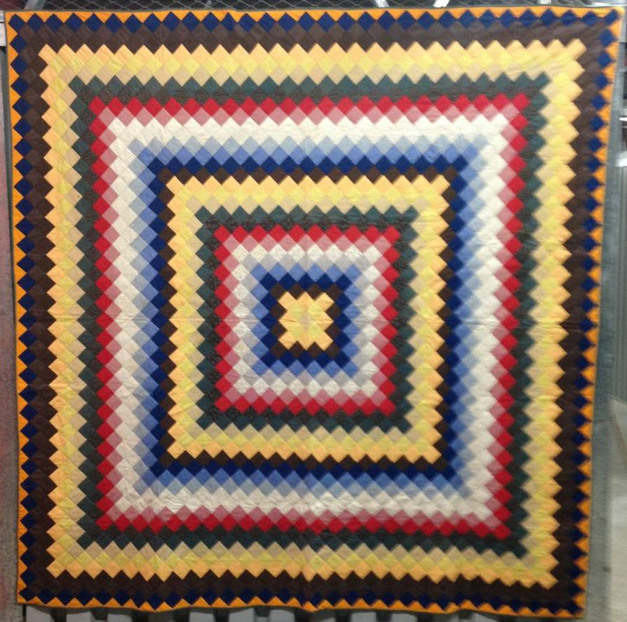 MENNONITE TRIP AROUND THE WORLD ON THE SQUARE ANTIQUE QUILT