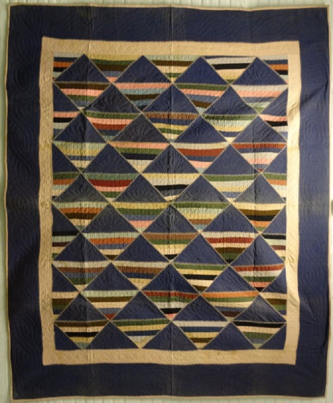 ROMAN STRIPE ANTIQUE PIECED QUILT, wool, violet : laura fisher quilts - Adamdwight.com