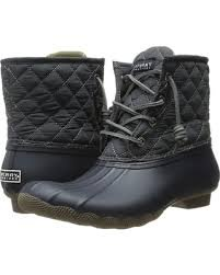 *Sperry Women's Saltwater Boot - Quilted Nylon Black