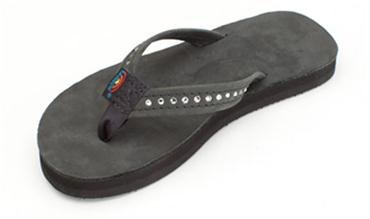 Rainbow Youth Premier Leather with Crystal - Black