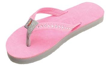 Rainbow Youth Premier Leather with Crystal - Pink/Grey