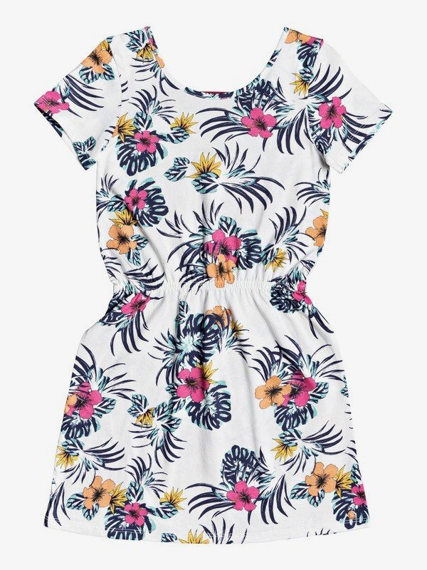 Roxy Youth Clouds Dress - Floral/Off White