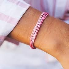 *Pura Vida Charity Bracelet - Boarding for Breast Cancer