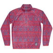 Southern Marsh Apline Fleece Pullover - Navy/Red