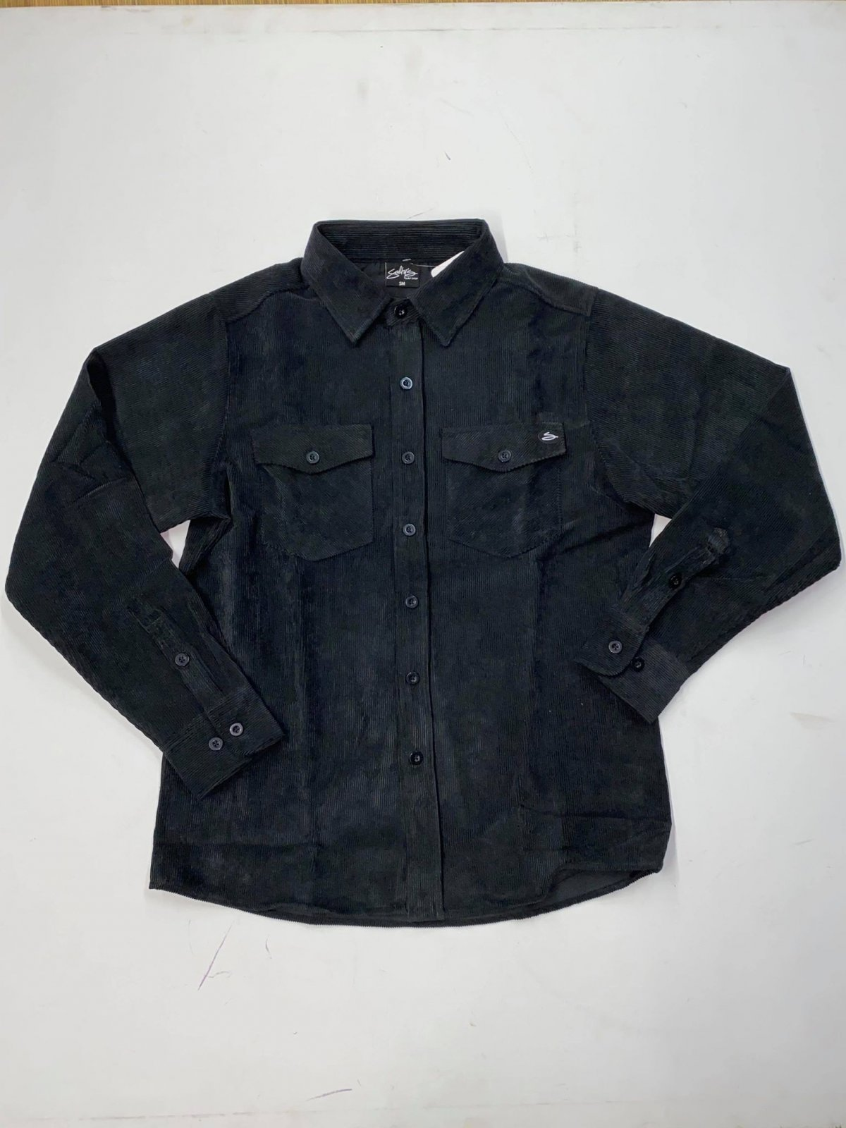 Salty's Brand Men's Corduroy Button Down Shirt - Black