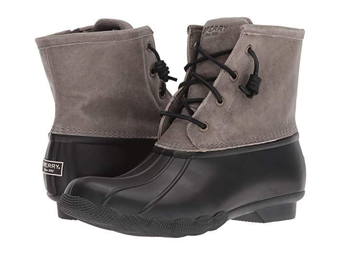 *Sperry Women's Saltwater Boot - Black/Grey