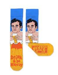 Freaker Unisex Socks - Drink and Be Murray