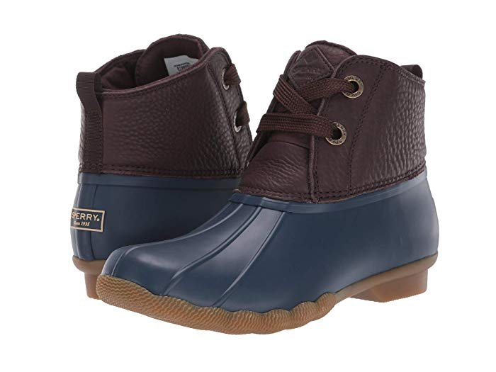 *Sperry Women's Saltwater 2 Eye Boot - Brown/Navy