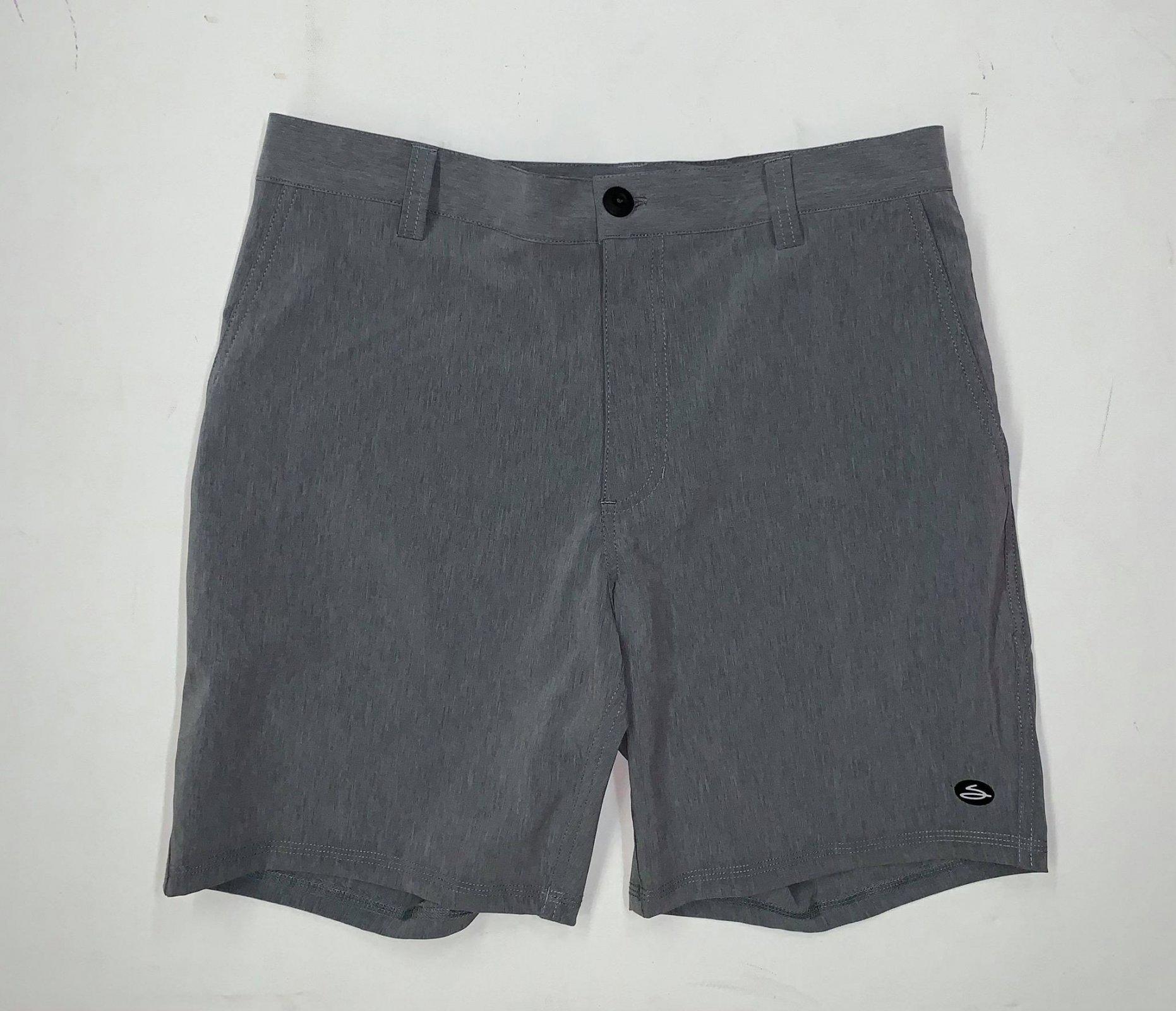 Salty's Brand Men's Elasto 4-Way Stretch Boardshorts - Charcoal