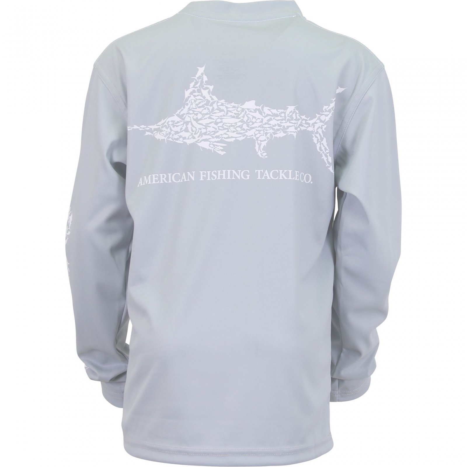Youth Jigfish LS Performance Shirt - Light Gray