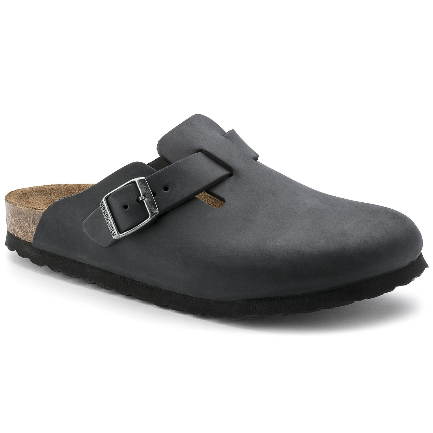 *Birkenstock Unisex Boston (HFB/Oiled Leather) - Black (519)