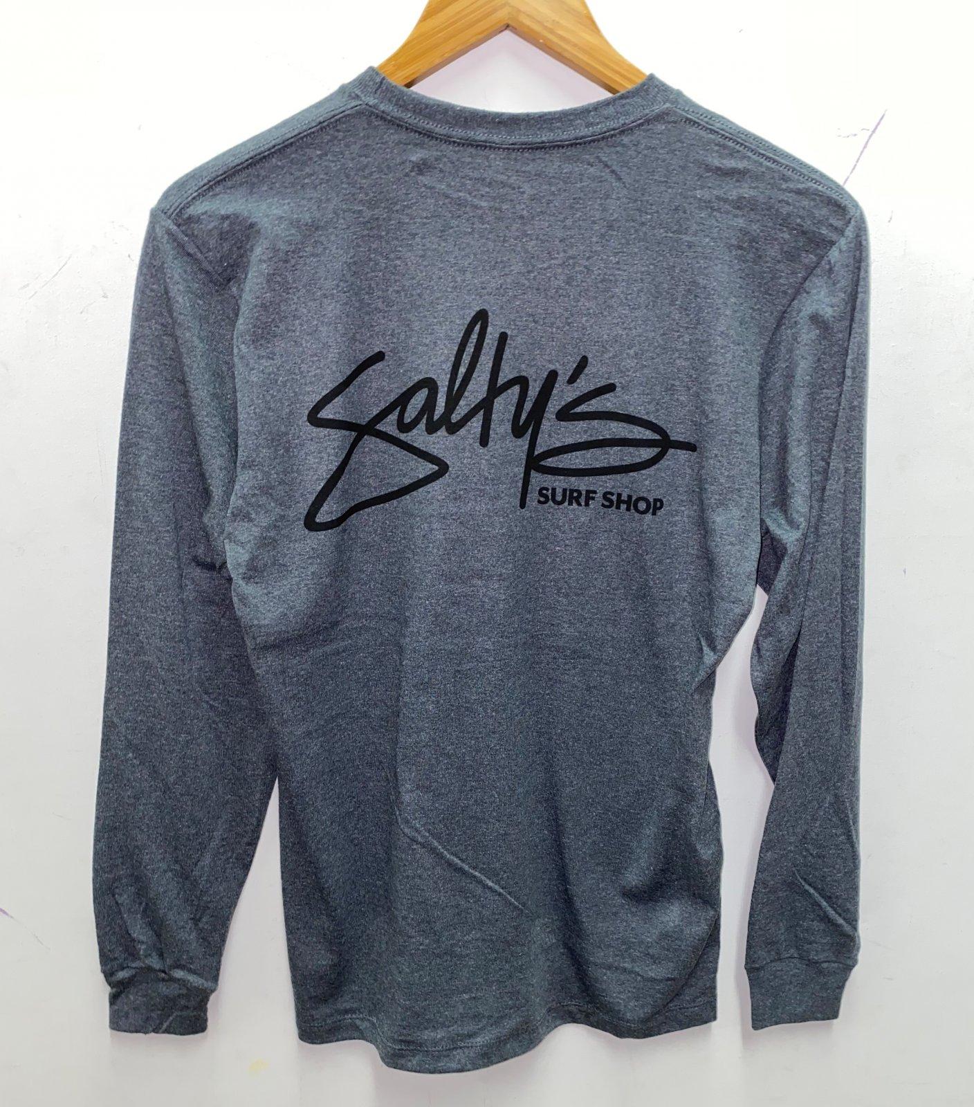 Salty's Brand Back Print Logo L/S T-Shirt - Excalibur/Black Ink