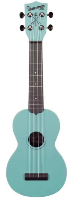 Kala - Glow in the Dark Blue Soprano Waterman Uke