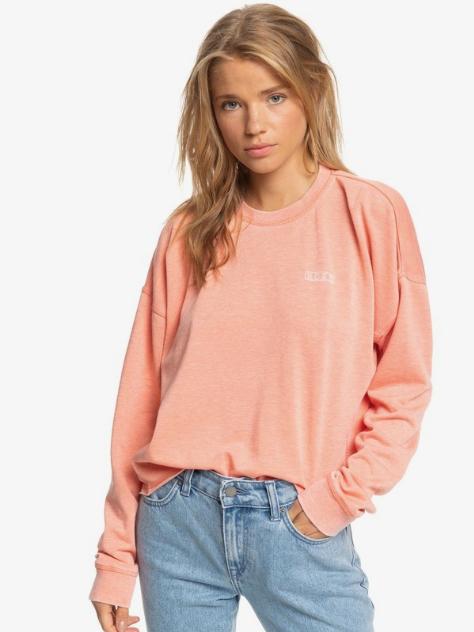 Roxy Women's Dream Believer Crewneck Sweatshirt - Tawny Orange