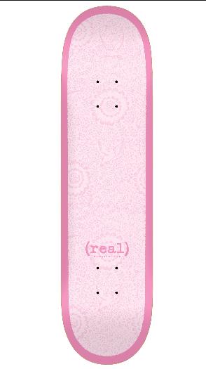 Real Skateboard Deck Flowers Renewal Pink 8.06