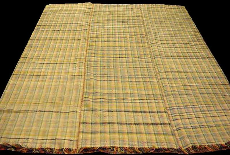 RAG CARPET ANTIQUE, spring colors plaid, room size