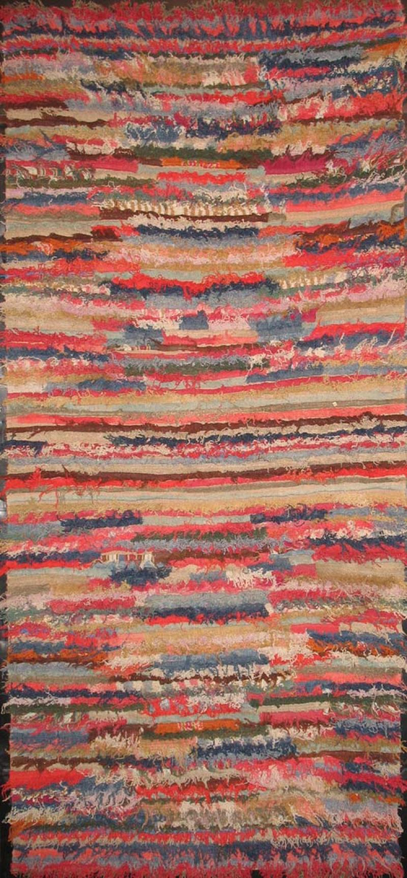 AMISH UNRAVELLED YARN ANTIQUE RUG