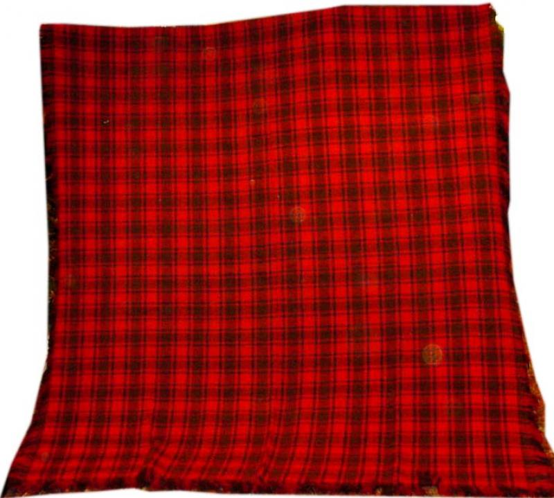 PLAID BLANKET with an INTRICATE WEAVE