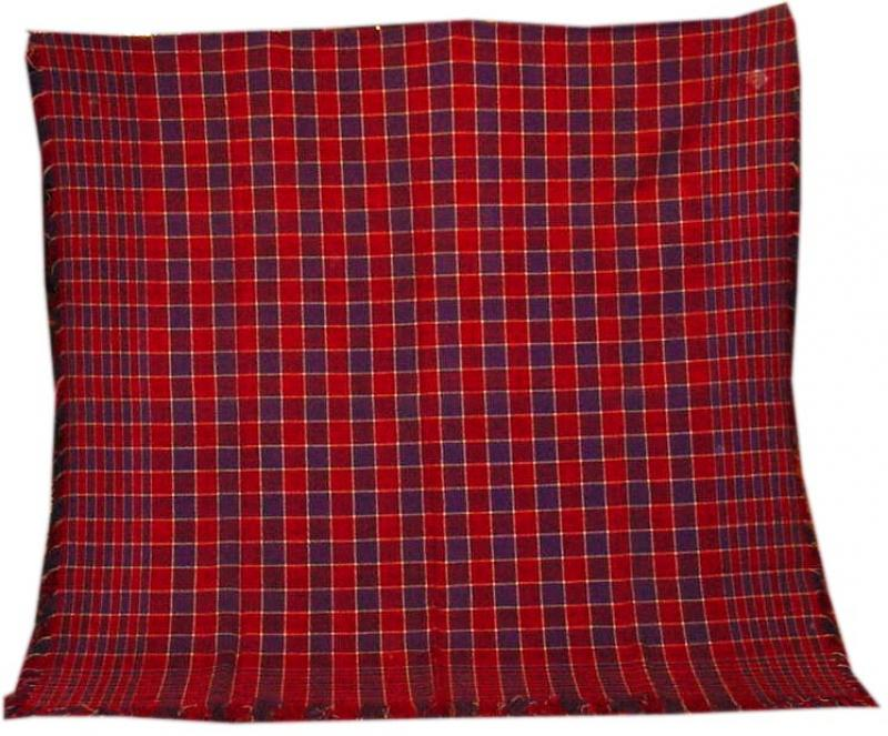 HANDWOVEN BLANKET in a LARGE CHECKERBOARD