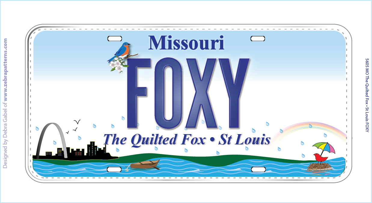 Foxy License Plate