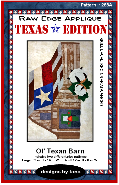 Ol' Texan Barn Texas Edition Pattern by Tana Mueller 1288A