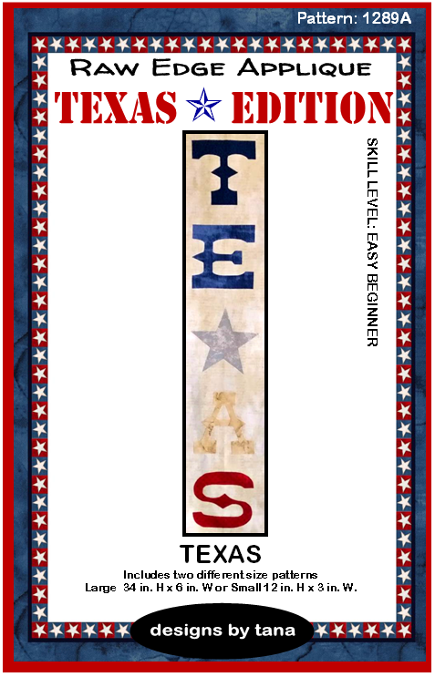Texas Lettering Texas Edition Pattern by Tana Mueller 1289A