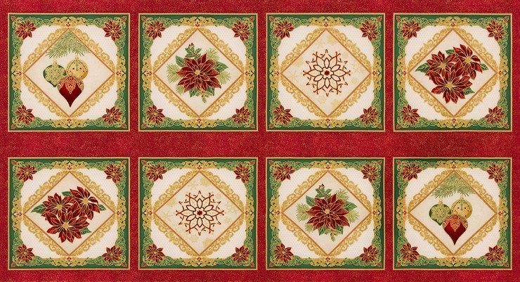 Robert Kaufman Holiday Flourish Metallic 12 Holiday - 18340-223