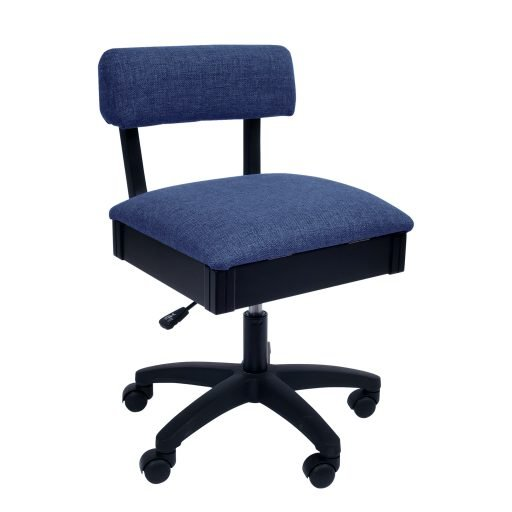 Hydraulic Sewing Chair - Solid Blue