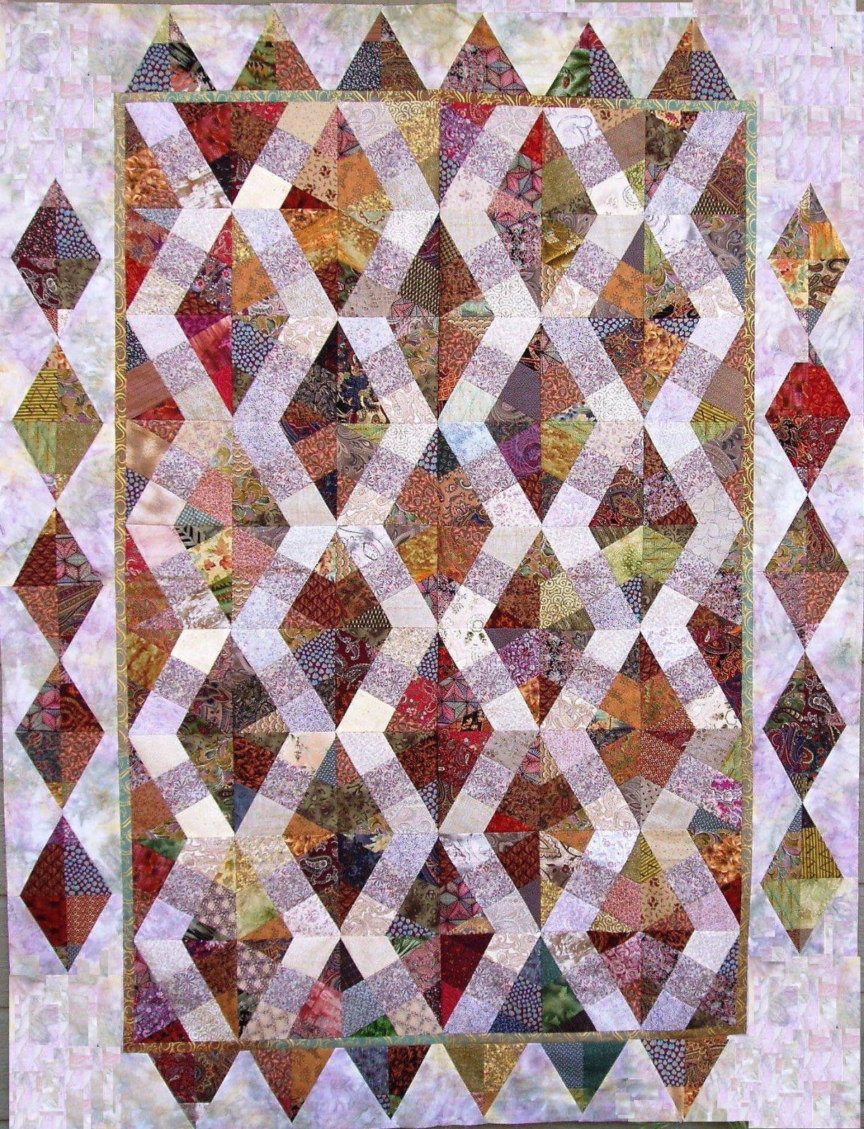 Venetian Tiles X-Block Quilt Pattern