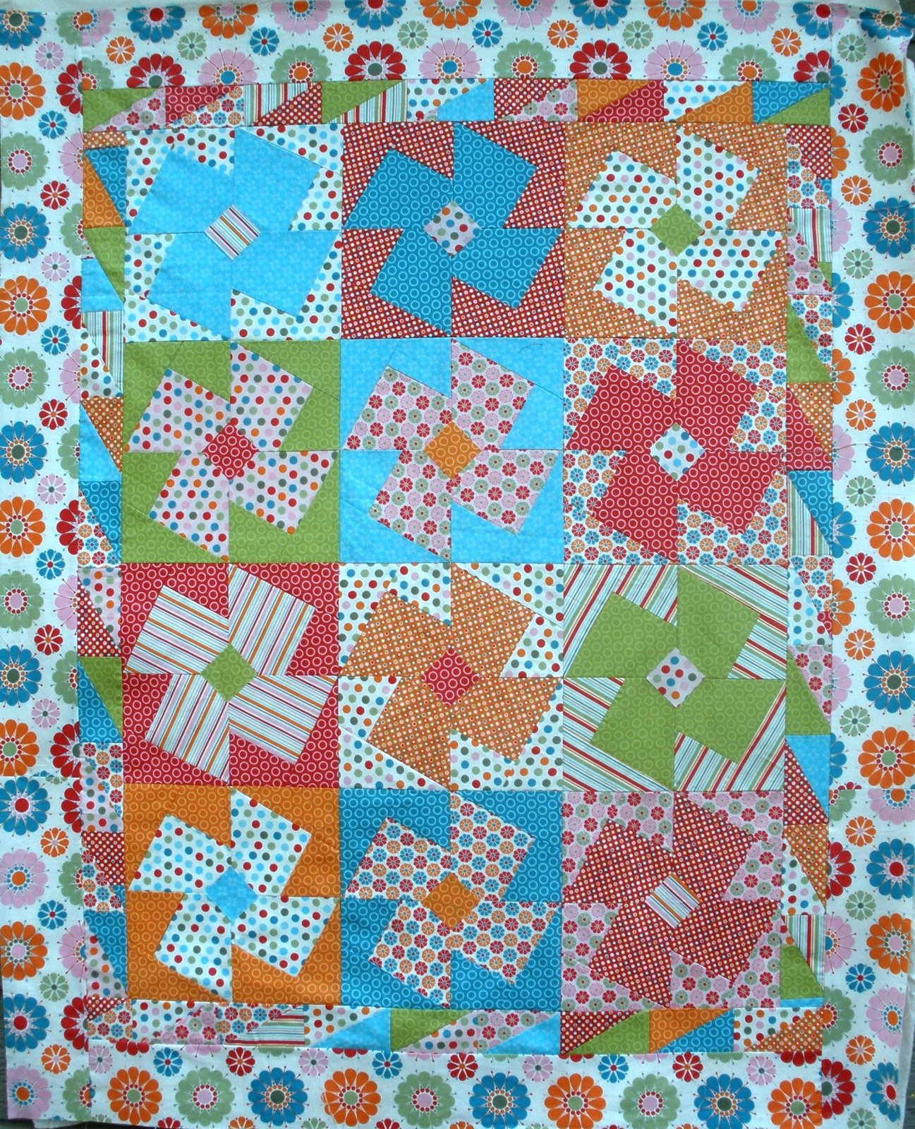 Bright Eyes X-Block Quilt Pattern