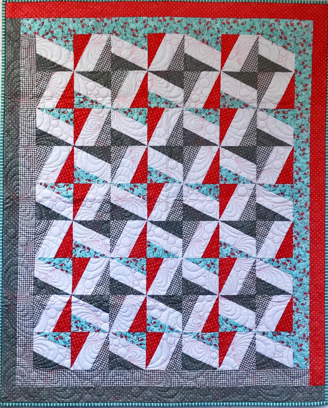 Morning Star Flamingo Quilt Kit