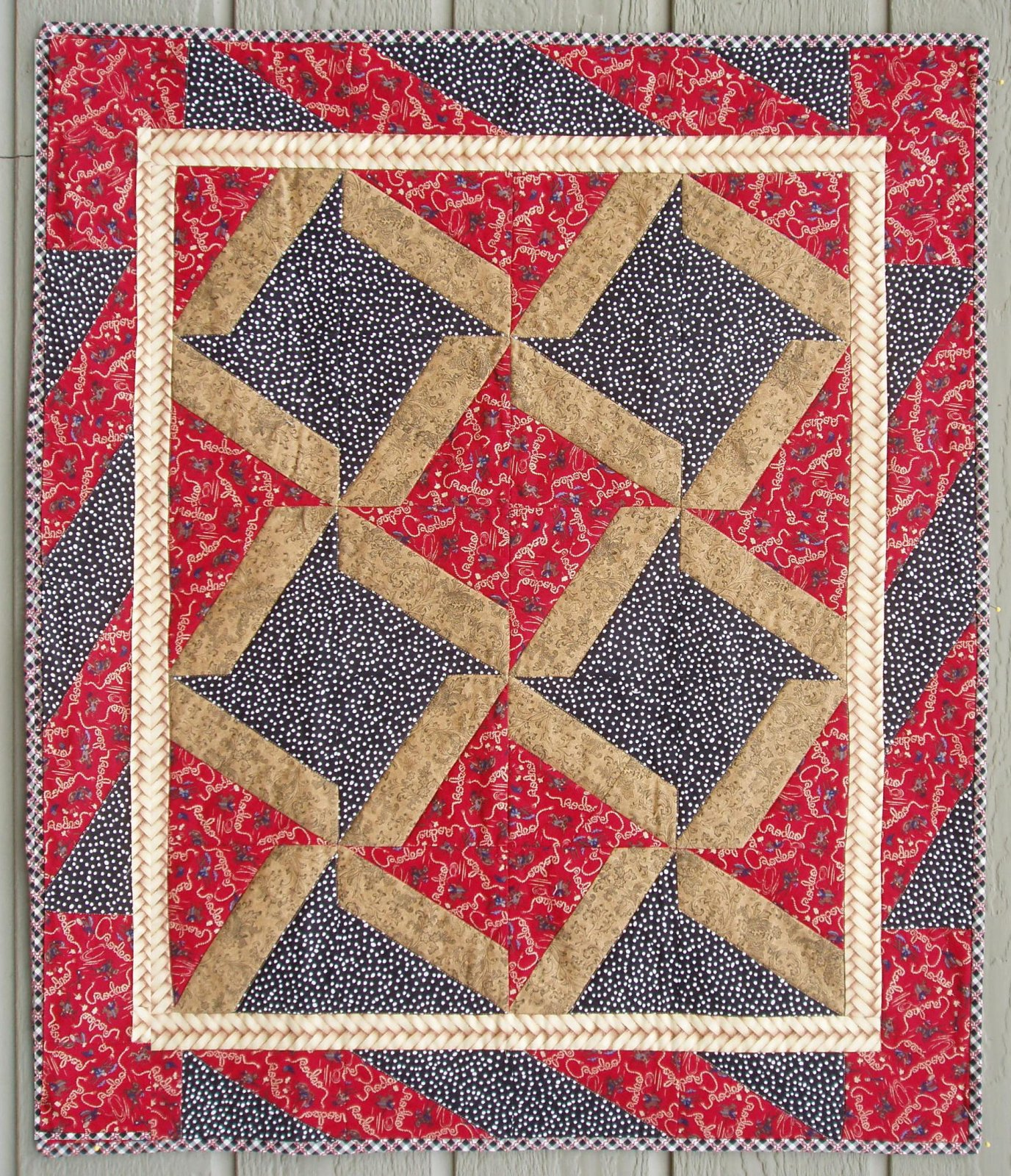 Ribbon Star X-Block Pattern