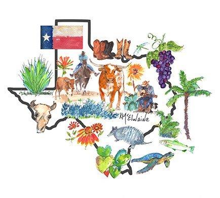 Kathleen McElwaine Texas Icons PE081
