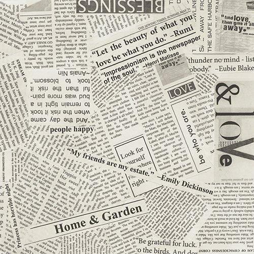 Modern Newsprint 108 Wide backing
