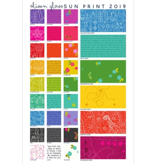 Andover Sun Print 2019 by Allison Glass Fat Quarter Bundle (27)