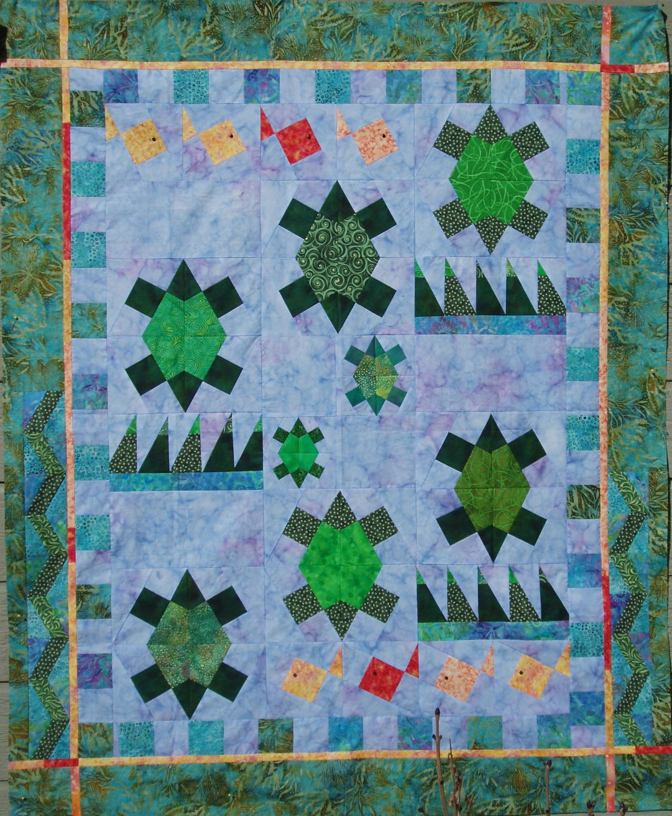 Turtles'n Tidepools X-Block Pattern