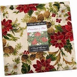 Poinsettia & Pines Charm pack