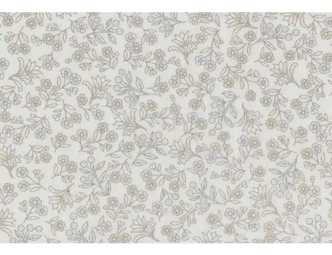 Small Floral - Ivory/Silver