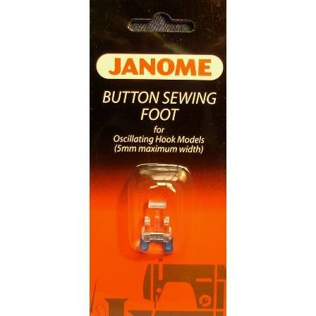 Janome Button Sewing Foot for Oscillating Hook Models (5mm max width)