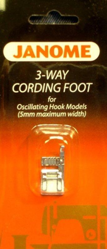 Janome  3 WayCording Foot for Horizontal Rotary Hook Models