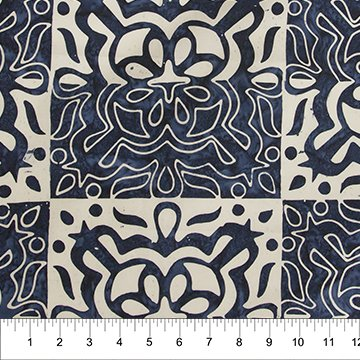 Floral Boxes - Navy/White