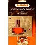 Janome AcuFeed 1/4 in Seam Foot and Needle Plate